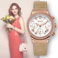 Fashion Chronograph Women Bracelet Watches Top Brand Luxury Ladies Quartz Watch Clock Lovers Sport Wristwatches Relogio Feminino