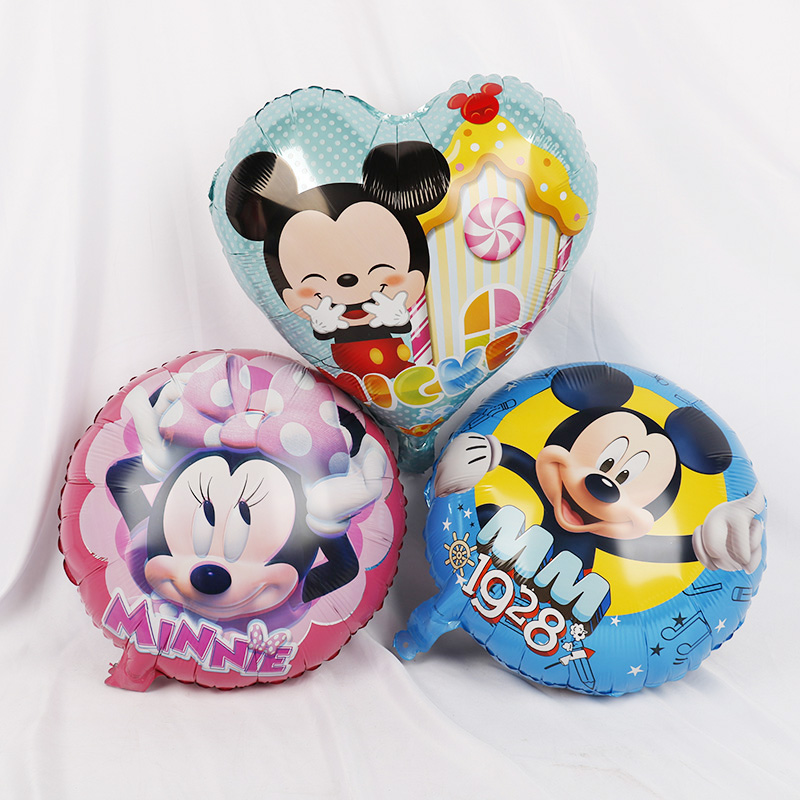 112cm Giant Mickey Minnie Mouse Cartoon Foil Balloon For Birthday Party 19