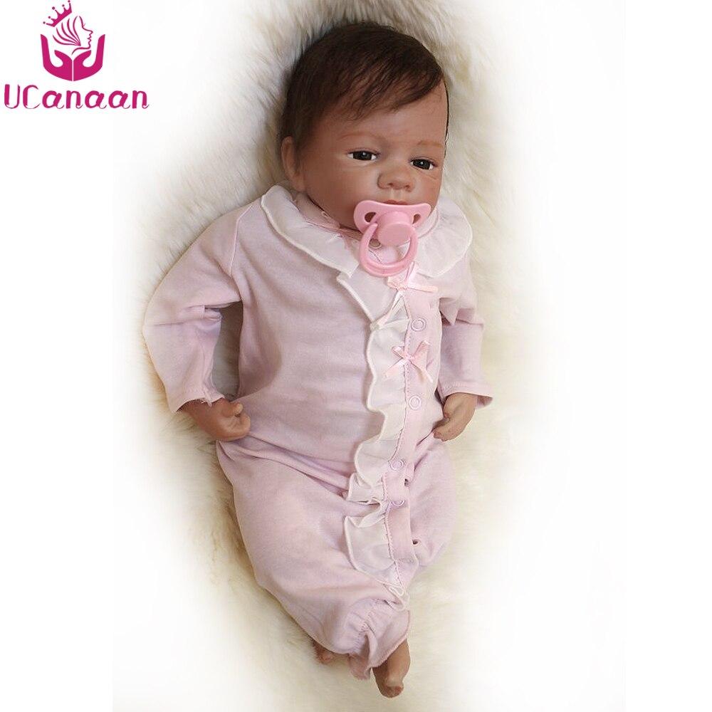 Ucanaan/18 дюйм(ов) BABY ALIVE Reborn силиконовые куклы родившихся ручной работы играть дома Игрушечные лошадки для детей реальный куклы Chirstmas подарки