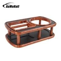 Multifunction Plastic Woodgrain Car Drink Holder Cup Mount