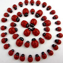 100pcs 0.8*1.1cm Cartoon Beetle Sponge Stickers Ladybug Self Adhesive Wooden Handicrafts A11