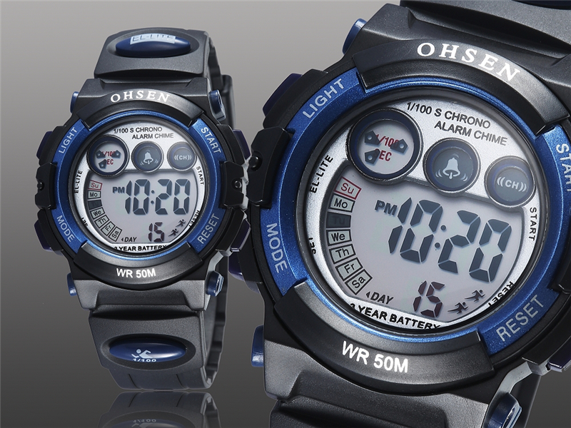 OHSEN Fashion Children Sports Watches Waterproof 5ATM Kids LED Digital Watch Student Outdoor Hand Electronic Clock Montre Femme (14)