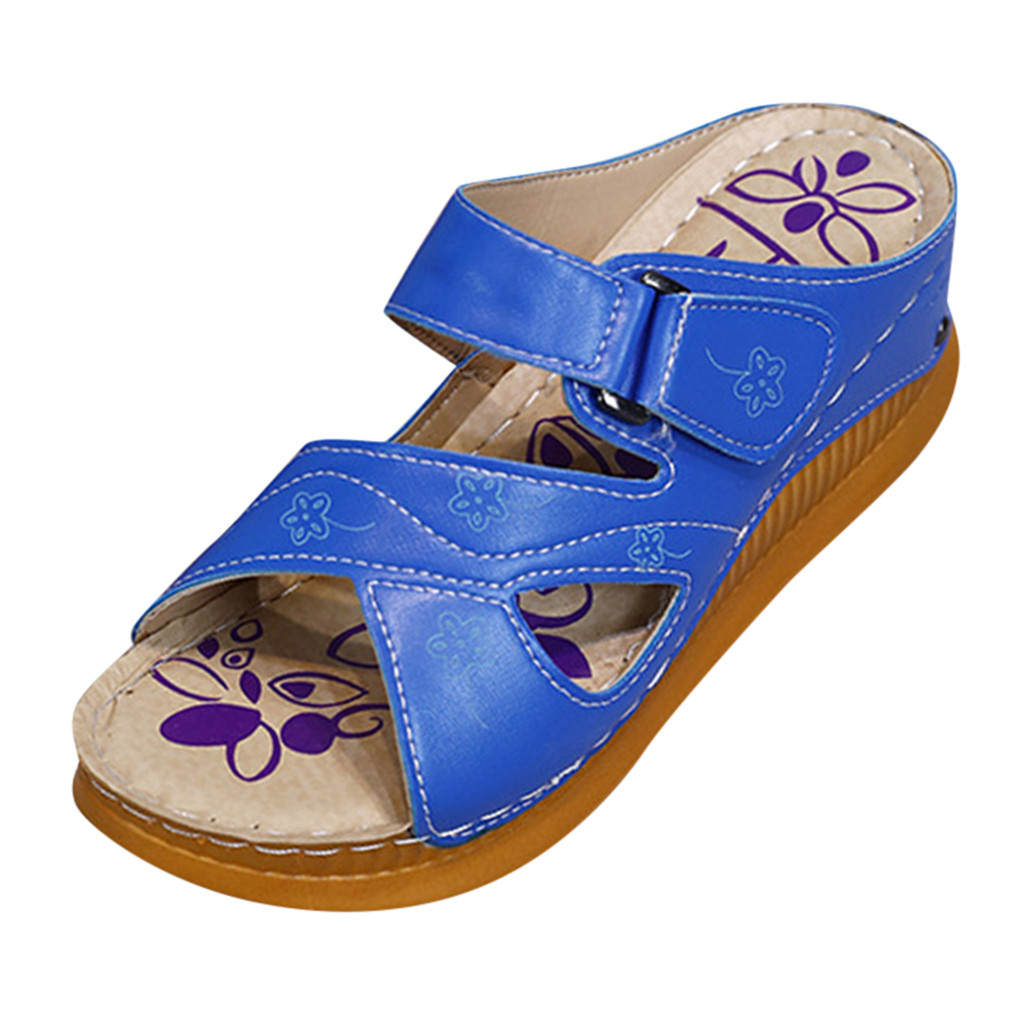 SAGACE Women's Fashion Slippers Casual Wedges Waterproof Platform Solid Color Platform Flat Outdoor Slippers New Listing 2019