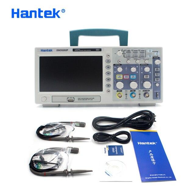 Hantek Цифровой осциллограф, Электрический инструмент, портативный осциллограф DSO5202P