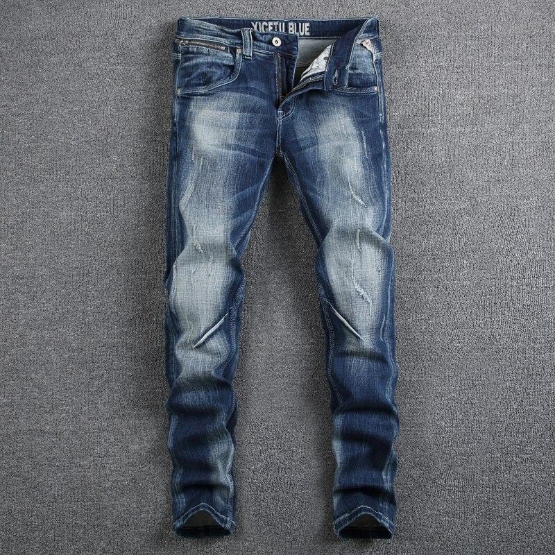Italian Style Fashion Designer Men Jeans High Quality Elastic Slim Fit Stripe Jeans Mens Pants Blue Color White Wash Biker Jeans lina lina li029ewkqs53