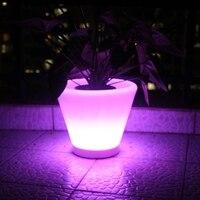 Cambio de Color RGB LED florero luz LED maceta luz con control remoto (D27 * H23.5cm) Envío Gratis 6 unids/lote