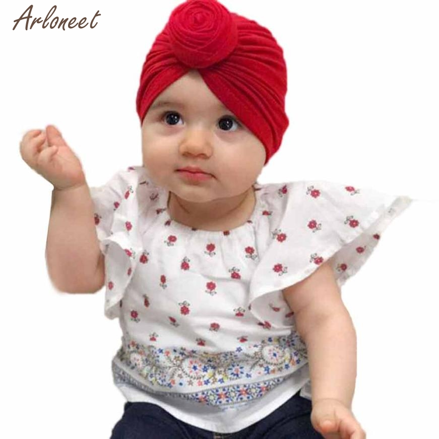 2018 baby hats for girls winter Cute India Hat Fashion Keep Warm Winter Hats Cotton Hemming Hat JAN19