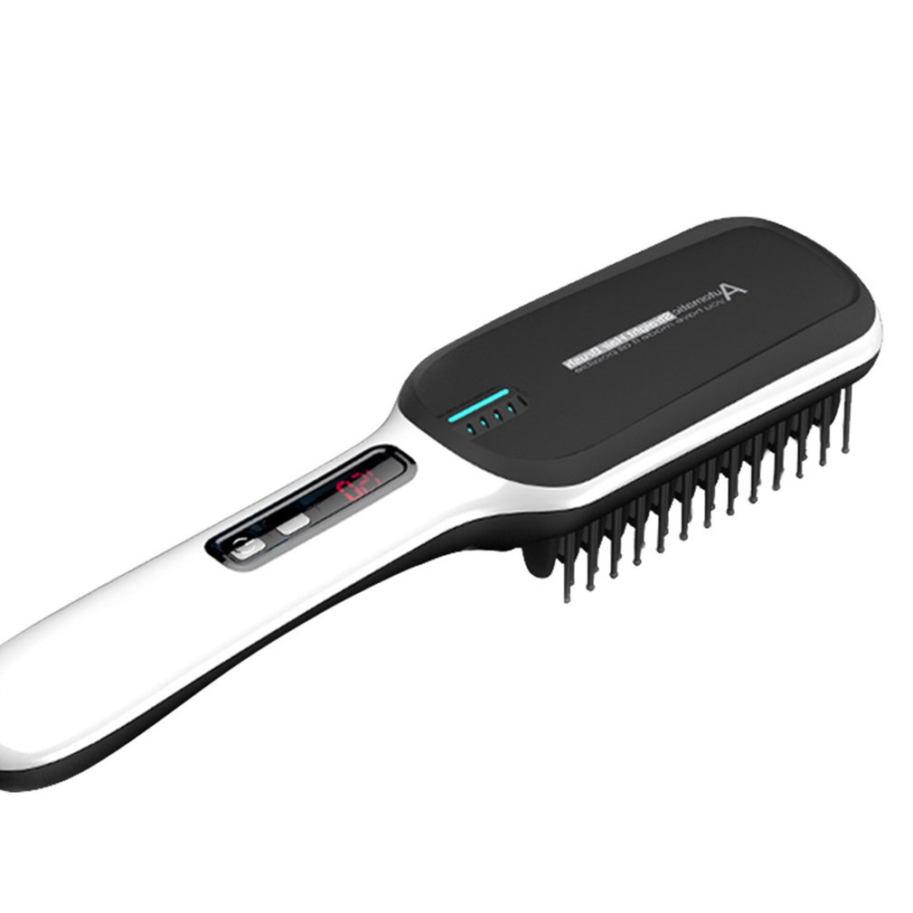 Electric Vibrating Hair Comb Straightener Brush Scalp Head Blood Circulation Massager Stress Relax USB Charging Battery Type стоимость