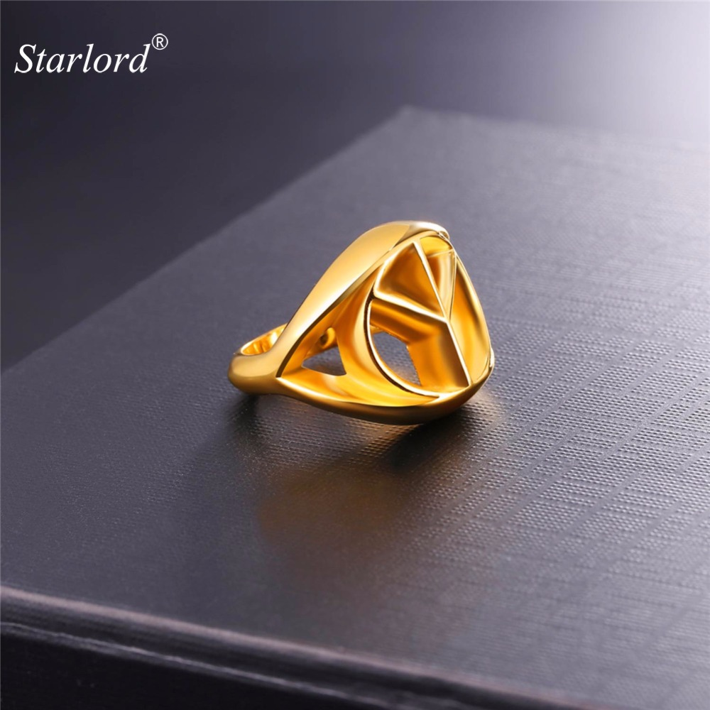 Starlord Peace Sign Ring Never Fade Stainless Steelgoldsilver