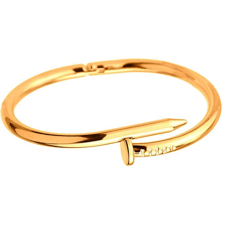 Trendy Rose Gold Silver Color Bracelet For Lover Women Bracelet Jewelry Titanium Bangle Gifts Accessories