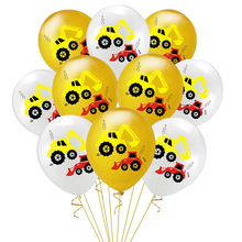 Birthday Decoration 10Pcs Vehicle Excavator Theme Car Latex Balloon Confetti Balloons Baby Shower Party Supplies