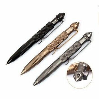 New Cool Black Ink Metal Ballpoint Pen Aviation Aluminum Alloy Anti-slip Self Defense Tactical Pen Multi-functional Tools Pen Ballpoint Pens