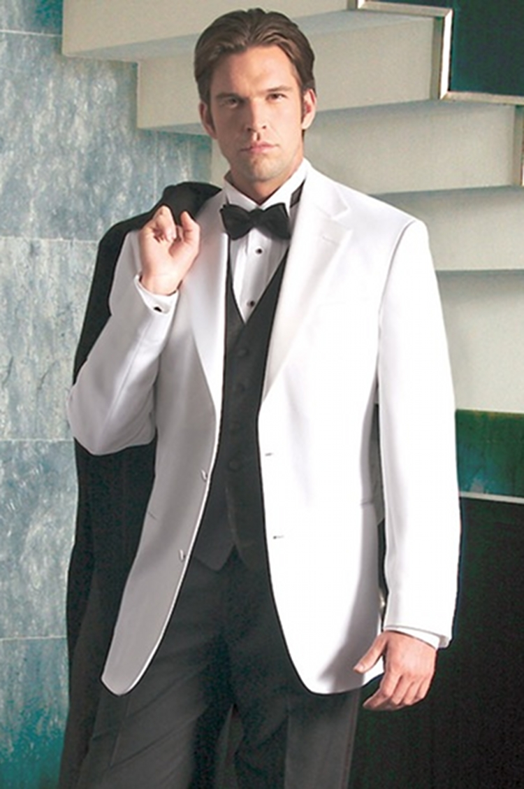 Aliexpress.com : Buy White Tuxedos With Black Vest And Bow Tie ...