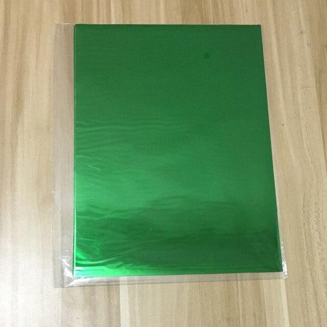 50 шт. золотой черный красный горячего тиснения фольги бумажный ламинатор для ламинирования переноса на элегантность лазерный принтер бумага для рукоделия 20x29 см A4 - Цвет: Green