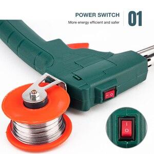 Image 3 - Kit de fer à souder électrique 60W, pistolet à étain, envoi automatique, pointe de Station de soudage électrique, pince à souder, outils de soudage