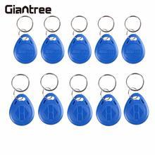 giantree 10PCS RFID Proximity ID Door Access Key Token Tag Fob 125KHz/13.56MHz rfid Read ID Token Key Keyfobs Ring