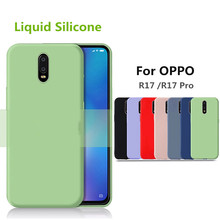 For OPPO R17 Pro Anti Fingerprint Case Soft Liquid Silicone Ultra Thin TPU Shockproof back Cover for RX17 Coque