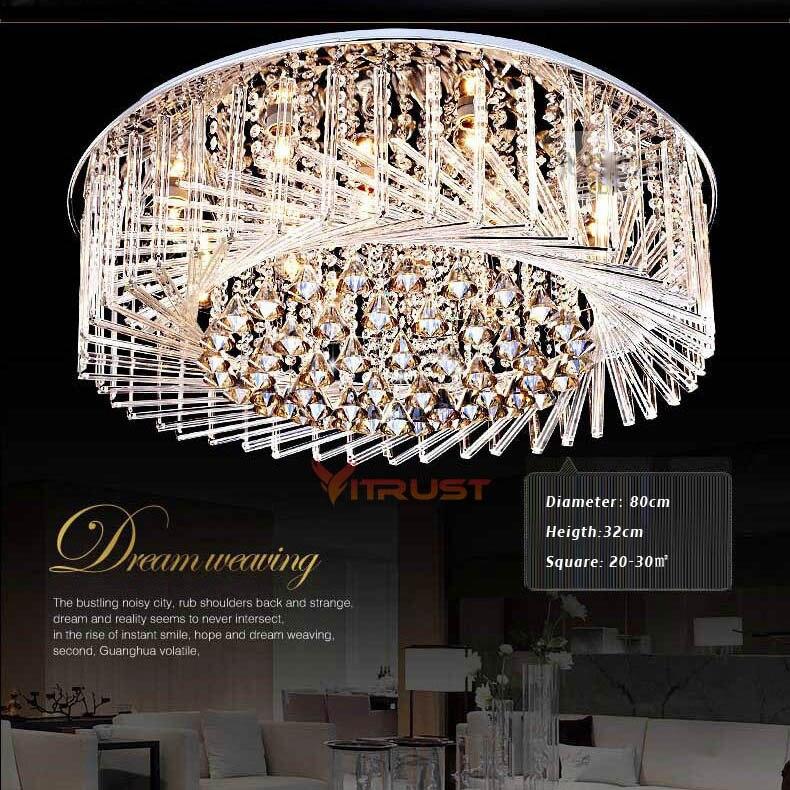 Современные хрустальные светодиодный Потолочные светильники Японии Стиль Освещение в гостиную светодиодный Кристалл лампы Спальня Lamp Пти