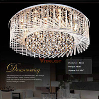 Modern Crystal LED Ceiling Lamps Japan Style Living Room Lights LED Crystal Lamp Bedroom Lamp Bird's Nest Design Lights