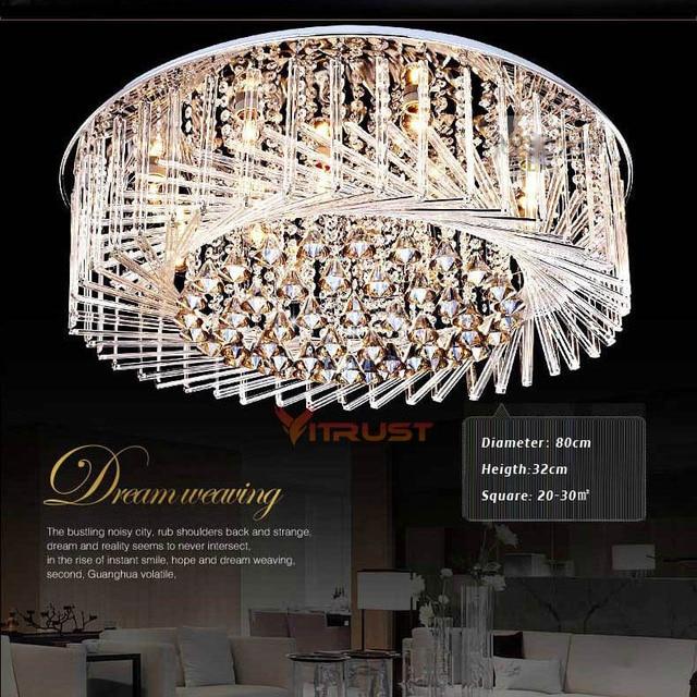 Moderne Kristall FÜHRTE Decke Lampen Japan Stil Wohnzimmer Lichter ...
