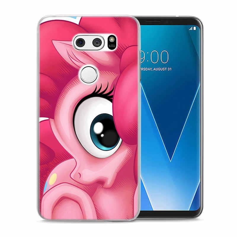 С рисунком из мультфильма «Мой Маленький Пони» Радужный чехол для LG G5 G6 G7 ThinQ V10 V20 V30 V40 ThinQ Q6 Q7 Q8 жесткий защитный чехол Крышка