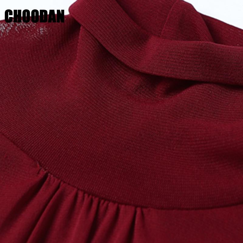 Camisa Shirt Otoño Blusa Manga Completa Mujeres Casual Alto Cuello Elegante Malla De Red Plisada 2018 Larga Señora Básica Rojo Fitness Invierno Sn0Fqx7Rw5