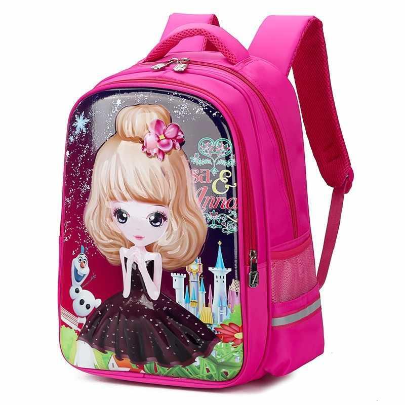 Mochilas escolares impermeables para niñas, niños, dibujos animados, escuela primaria, mochilas de princesa, Mochila Infantil para niños