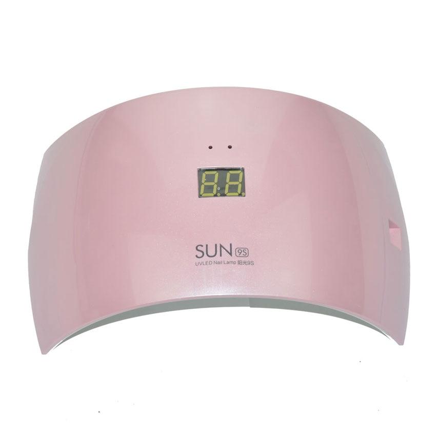 New SUN9c SUN9s 24W LED UV Lamp Nail Art Salon Tool UV Lamp LED Nail Dryer Nail Polish Gel Curing White Light Manicure Machine