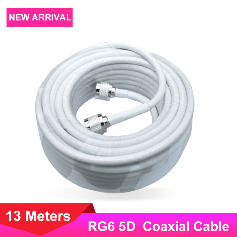 4G 3G 2G 5D Coaxial Cable N Male To N Male 13 Meters Connector For Communication Signal Amplifier Network Cellphone Booster /