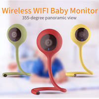 Portable Wireless Nanny Baby Monitor Wifi Camera 2 Way Audio Night Vision Security Camera Temperature Monitor Lullaby Babysitter