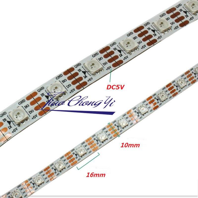 Lumière adressable intelligente de bande de pixel de 5 M WS2813 DC5V 60Led/m + contrôleur SP105E - 2
