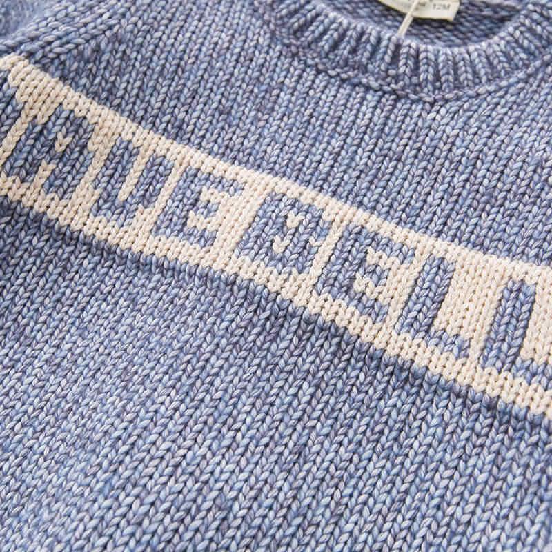 DBJ8303 dave bella herfst baby baby jongens fashion top kids peuter trui kinderen boutique gebreide trui