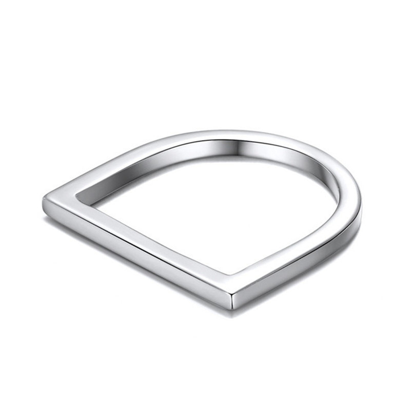 Image 2 - 100% 925 Anéis de Prata Esterlina Para Mulheres Escritório  Minimalis Design Simples Anel Trendy Acessórios Fine Jewelry Anillos  MujerAnéis