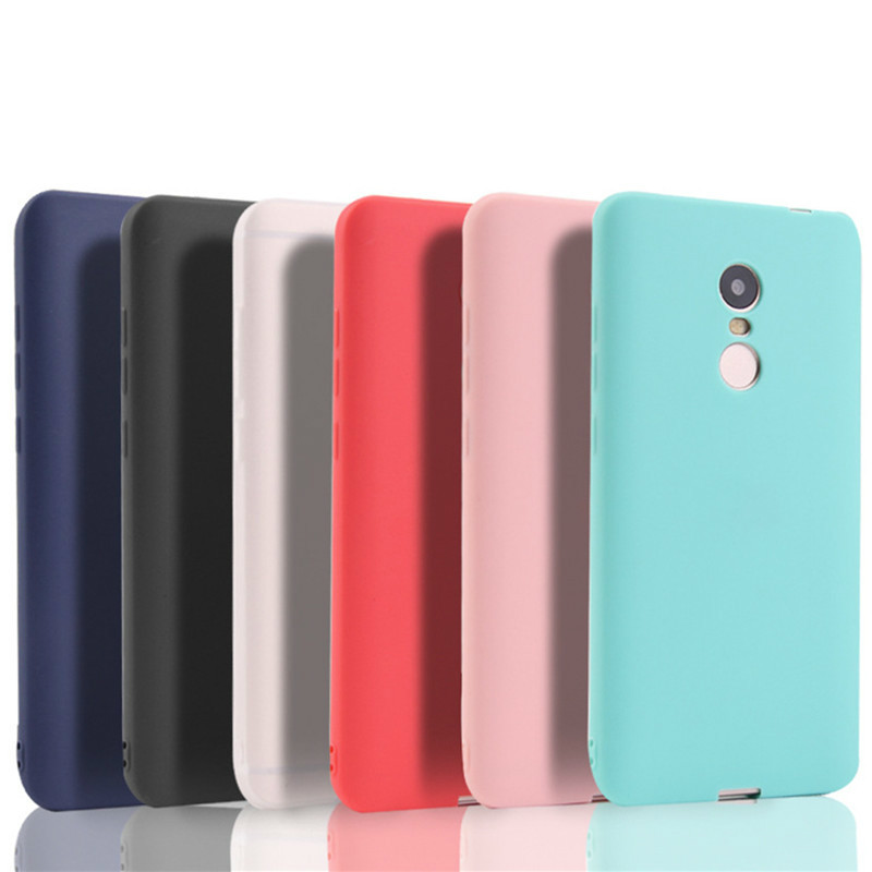 Soft Silicone Mobile Phone Case For Xiaomi Redmi Note 4x solid TPU Protective Cover