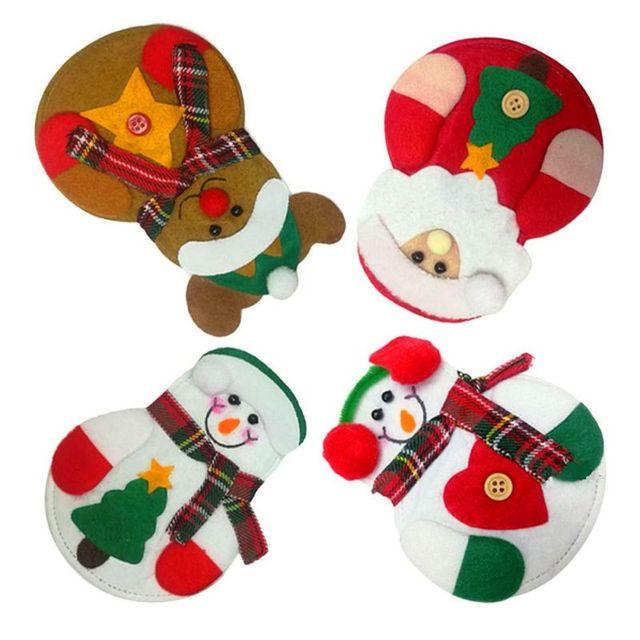 Bolsa de vajilla de Navidad patrón de Papá Noel cubierta para ...