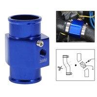 36mm Blue Water Temperature Joint Pipe Temp Sensor Gauge Radiator Hose Adapter