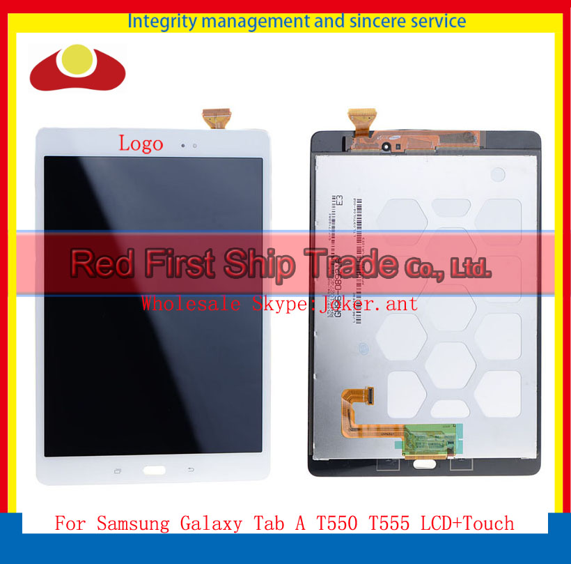 цена на High Quality 9.7 For Samsung Galaxy Tab A T550 T555 Touch Screen Digitizer Sensor+LCD Display Assembly Complete Black White