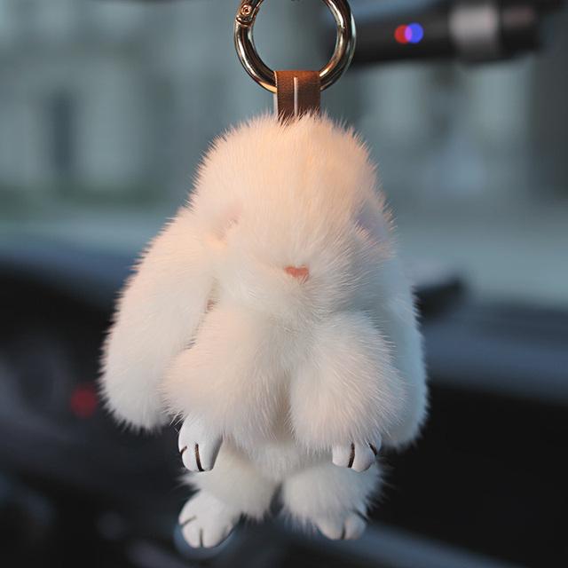 100% Real Whole Mink Fur Rabbit Pendant ca7e7061f