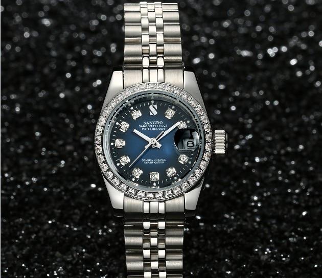 Здесь продается  28MM SANGDO Blue dial Automatic Self-Wind movement High quality Luxury Women