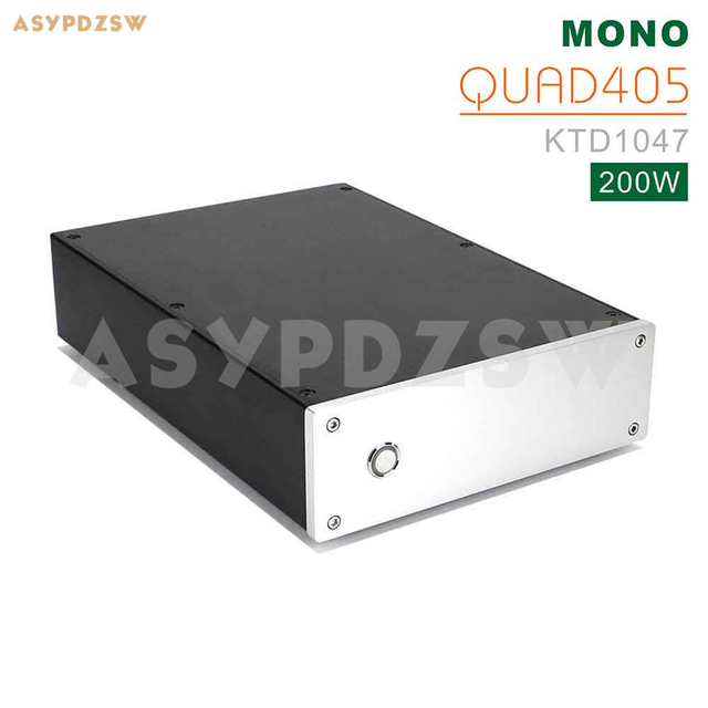 Finished QUAD405 Mono Power amplifier Base on QUAD 405 amplifier KTD1047 200W With speaker protection