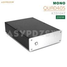 الانتهاء QUAD405 أحادية مكبر كهربائي قاعدة على رباعية 405 مكبر للصوت KTD1047 200W مع حماية اللغة