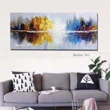 Абстрактная живопись на холсте 100% Ручная роспись Нож Картина Маслом Картины Картины Абстрактная