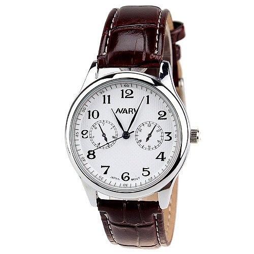 Men's PU Band White/Black Round Dial Analog Quartz Watches,Sports Quartz Analog Watches,Men's Wristwatch