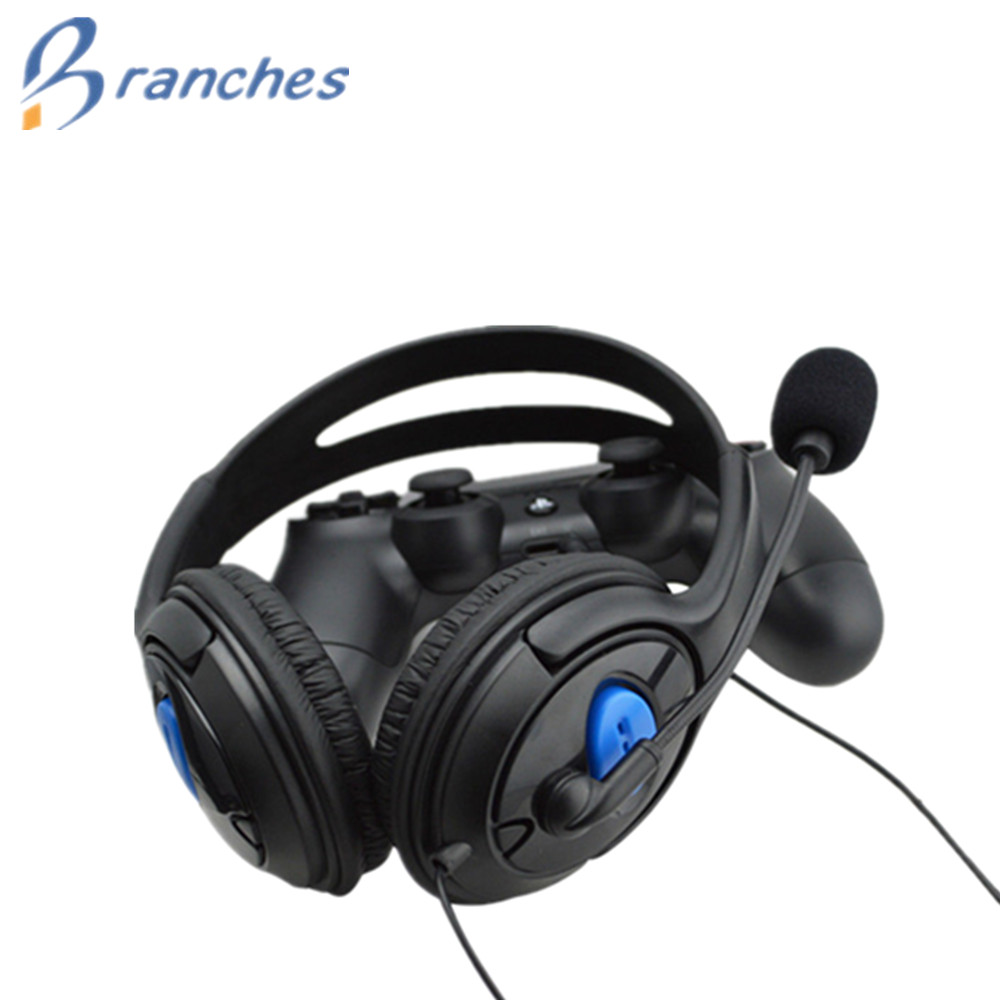 цена на Wired Gaming Headset Earphones Headphones with Microphone Mic Stereo Supper Bass for PlayStation 4 Gamers for Sony PS4