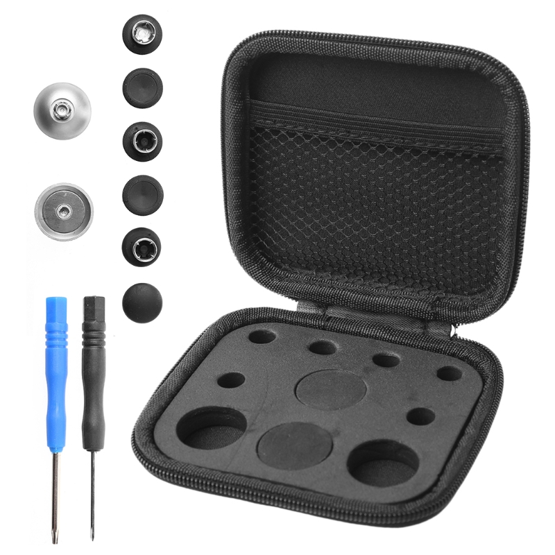 8pcs/Metal Thumbstick Grips Button Screwdriver Storage Bag Kit For <font><b>Xbox</b></font> One Elite