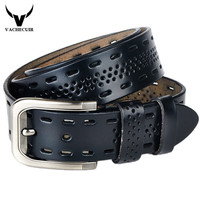 2015 High Quality Cow Genuine Luxury Leather Men Belts For Men Strap Male Pin Buckle Cinto