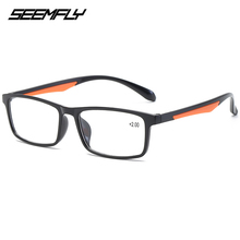 SEEMFLY Square TR90 Reading Glasses Men Female Presbyopic Eyeglasses Women Male Magnifying Spectacles Unisex Hyperopia Eyewear