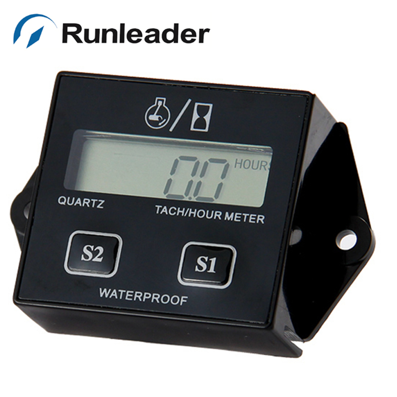 RL-HM011B Waterproof Tachometer Hour Meter For Gas Marine outboard jet ski Lawn mower motorcycle pit bike ATV jet boat chainsaw