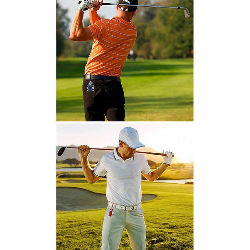 Peças de Madeira Tee Golf Tee Titular Couro com 4 1 Ímã Marcador De Bola Gancho para Cinto Saco Azul Vermelho Preto formação de cor Tee Titular