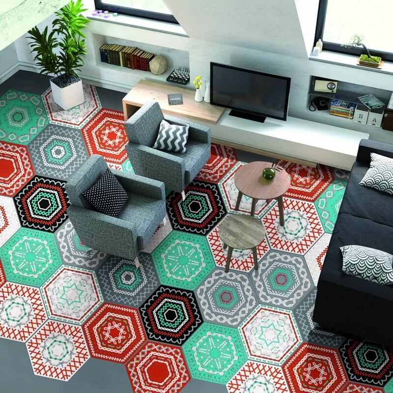 Mode Wasserdicht Fliesen Aufkleber Selbstklebende 3D Boden Wandaufkleber Für  Wohnzimmer Schlafzimmer Küche